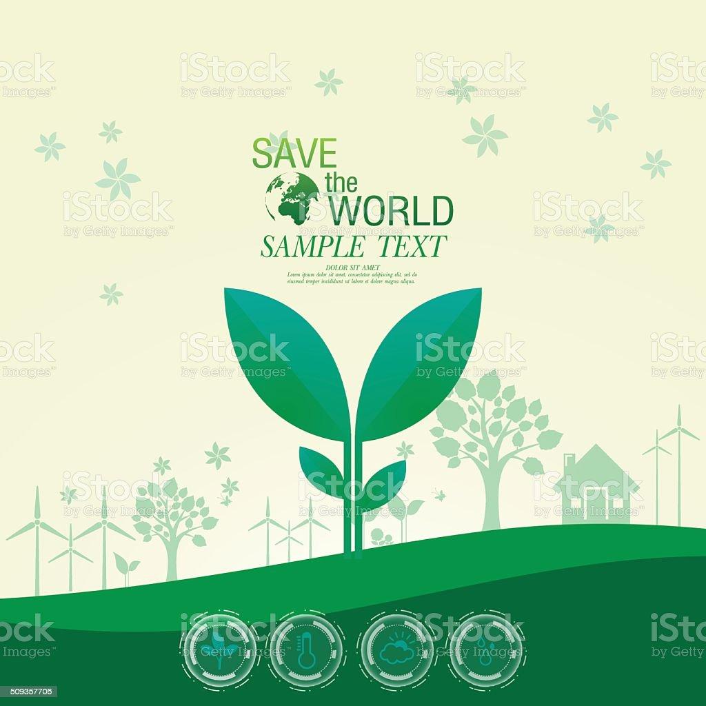 environment infographic vector art illustration