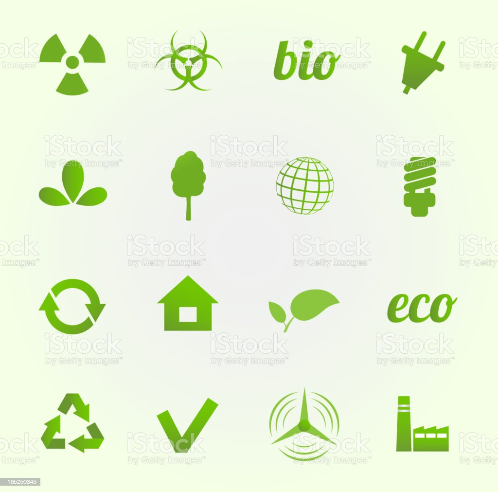 Environment vector icons set royalty-free stock vector art