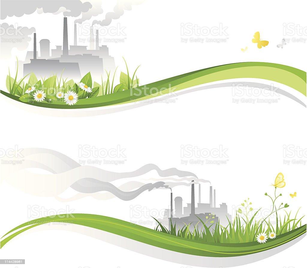 Environmental banners royalty-free stock vector art
