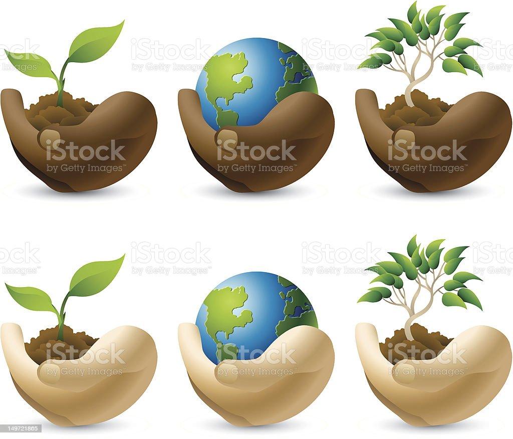 Environmental Caretakers royalty-free stock vector art