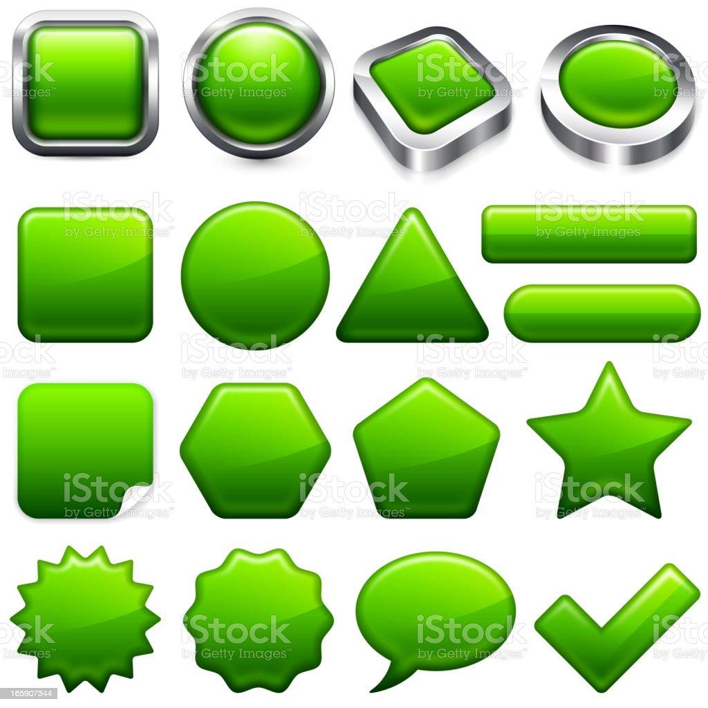Environmental Conservation Green buttons super set royalty-free stock vector art