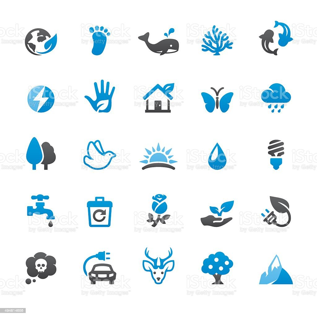 Environmental Conservation related vector icons vector art illustration
