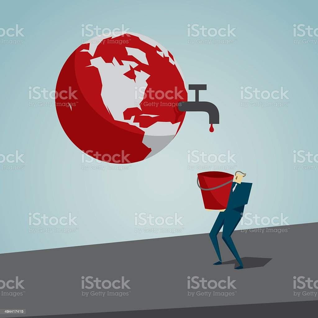 Environmental Conservation vector art illustration