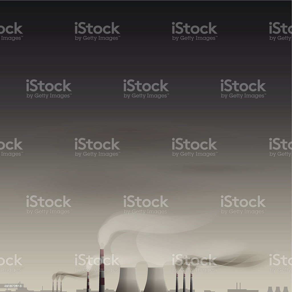 Environmental contamination vector background royalty-free stock vector art