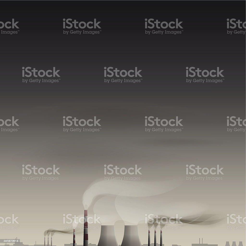 Environmental contamination vector background vector art illustration