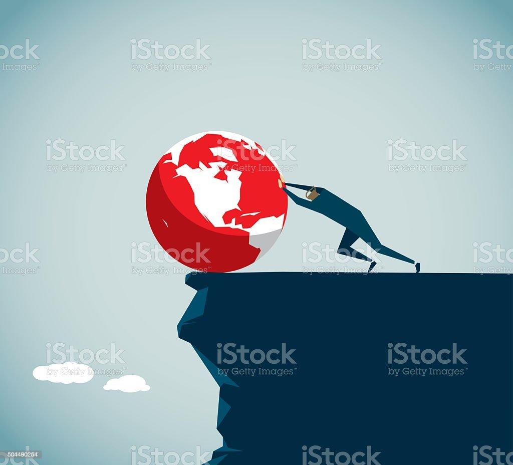 Environmental Damage vector art illustration