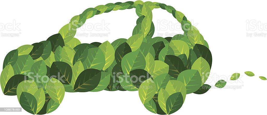 Environmental Green Car royalty-free stock vector art