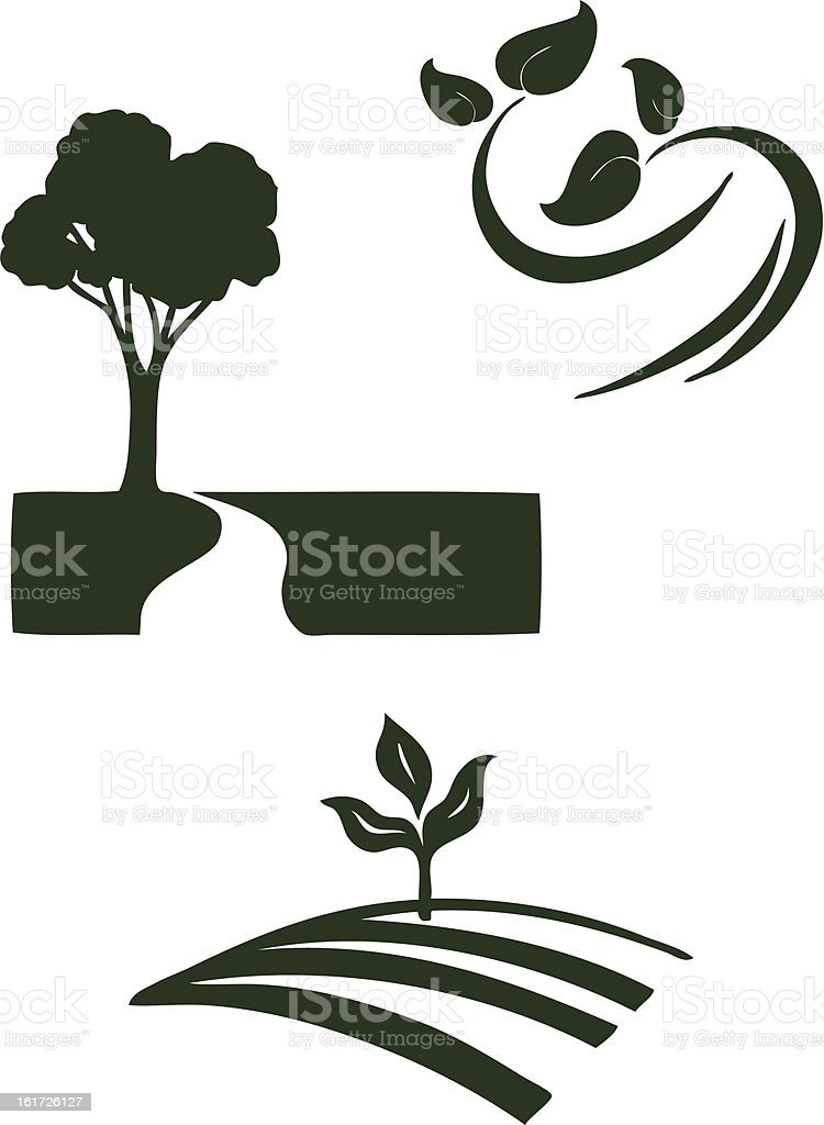 Environmental Green Icons royalty-free stock vector art