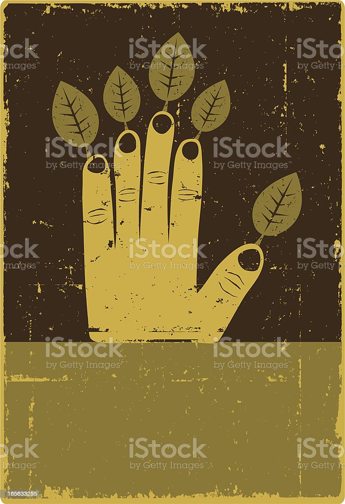 Environmental Hand royalty-free stock vector art