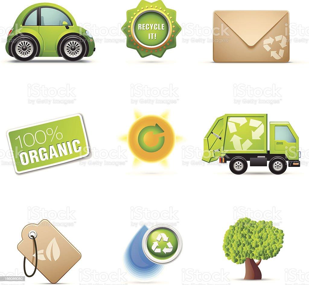Environmental icon set royalty-free stock vector art