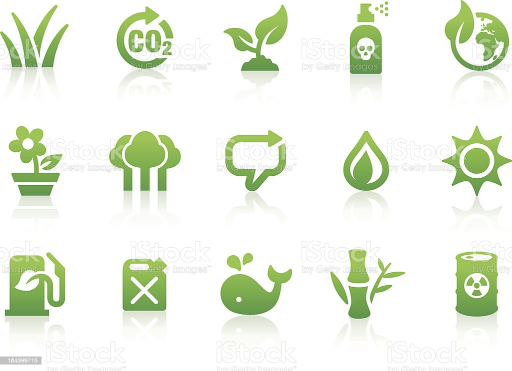 Environmental icons 1 vector art illustration
