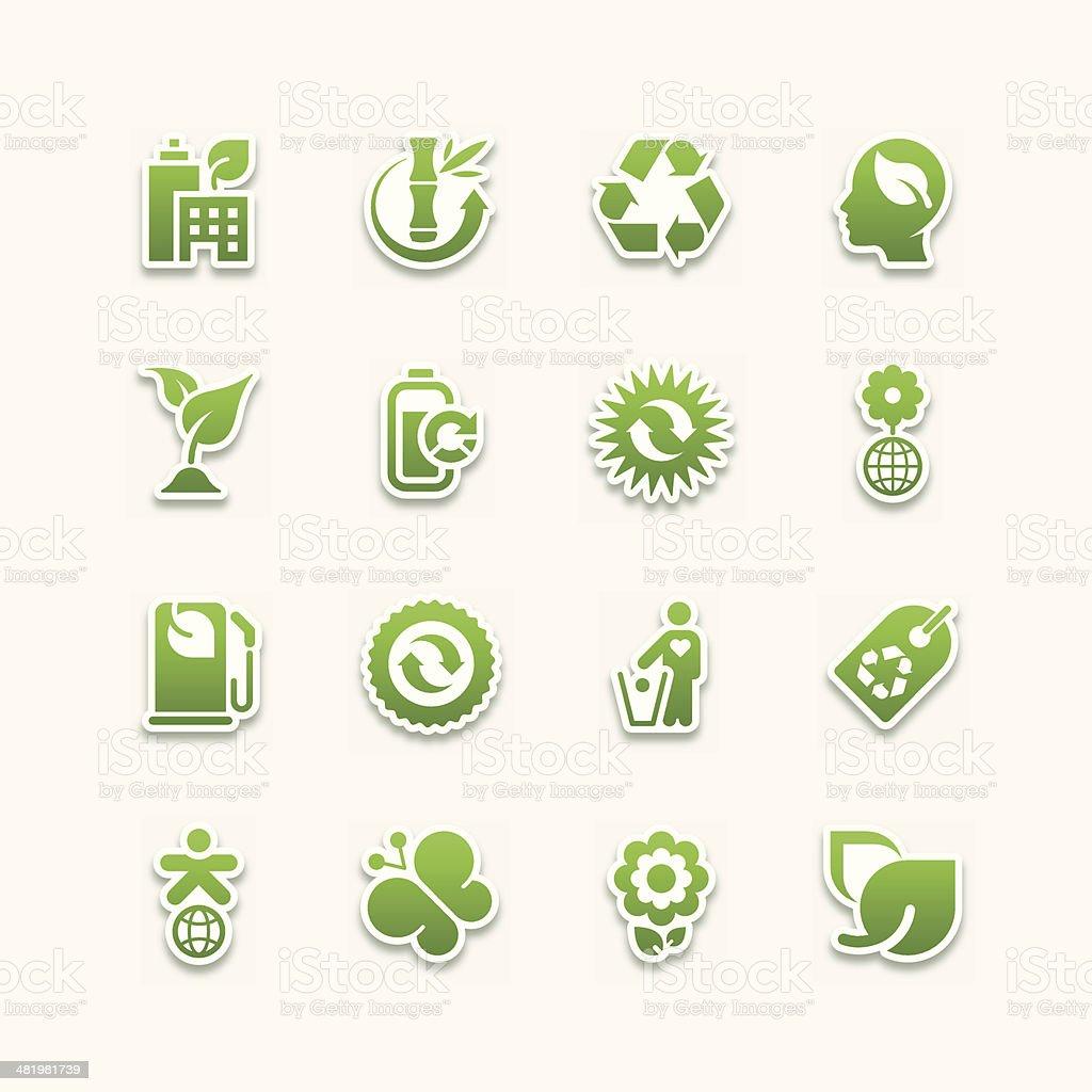 environmental icons | Part 01 vector art illustration