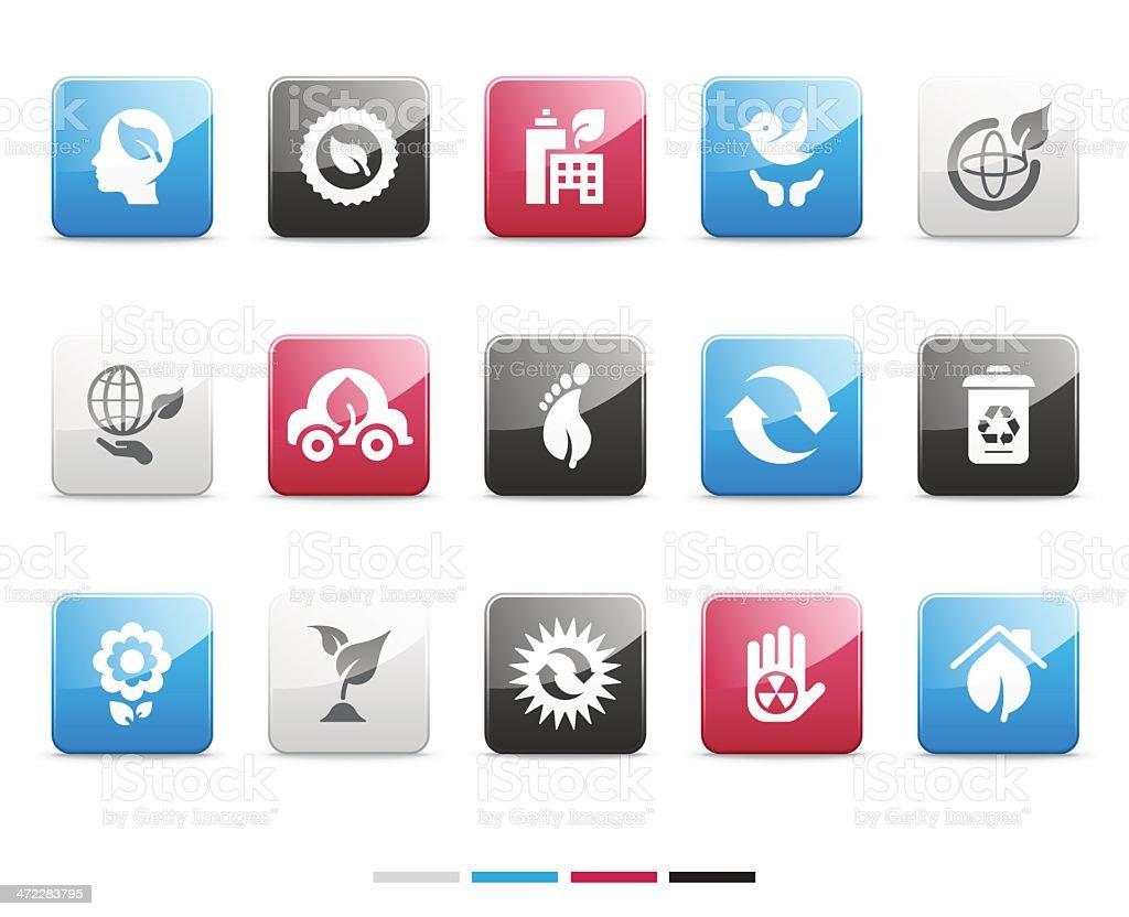environmental icons | senso series royalty-free stock vector art
