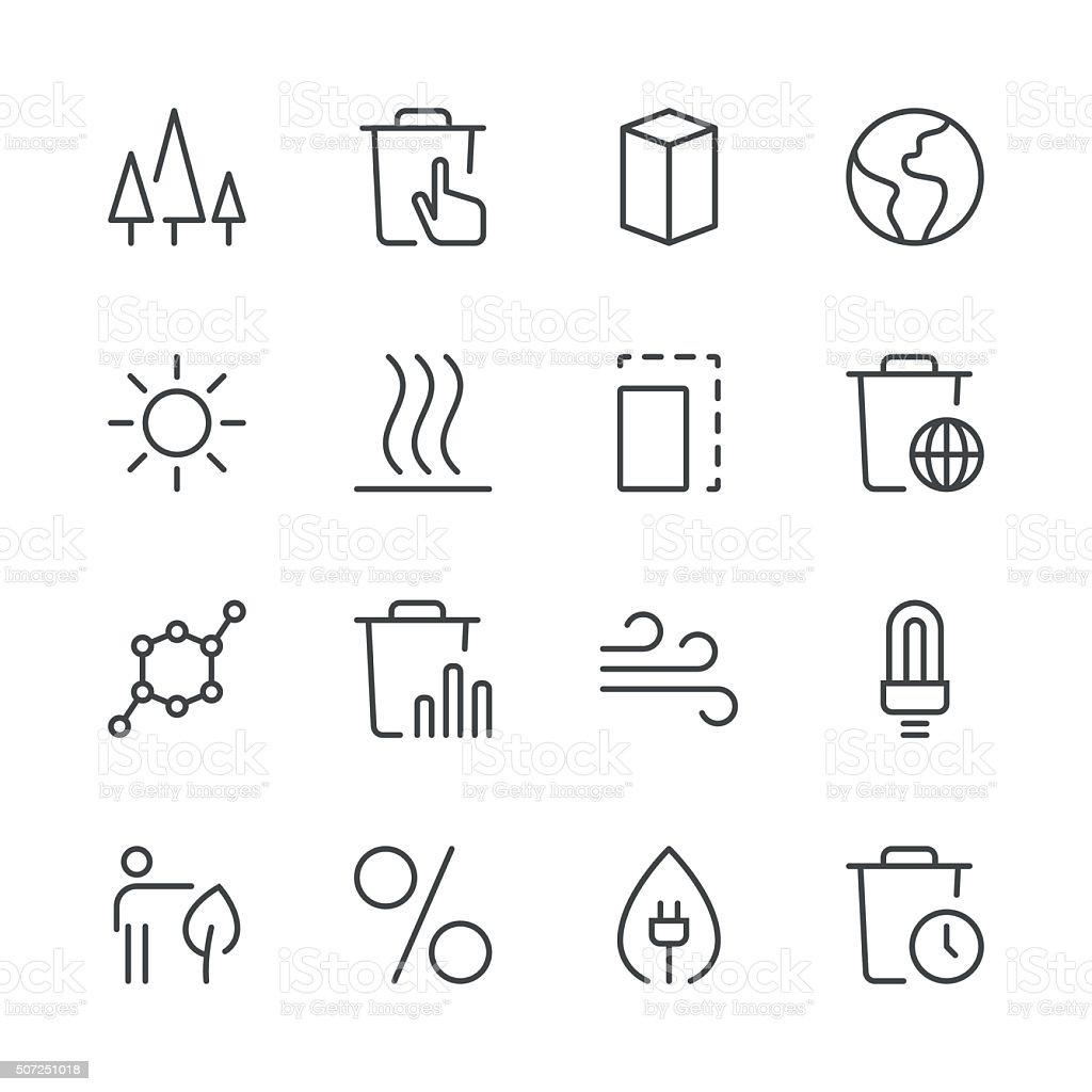 Environmental Icons set 2 | Black Line series vector art illustration