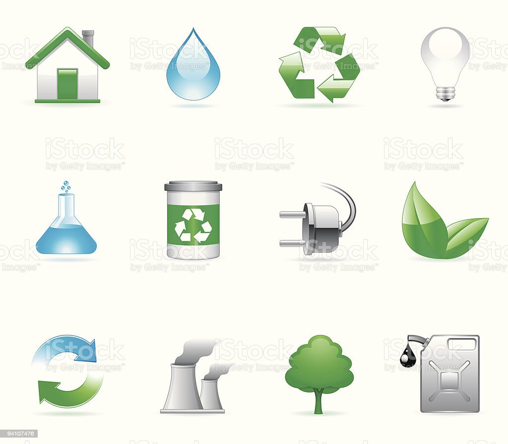 Environmental icons. royalty-free stock vector art