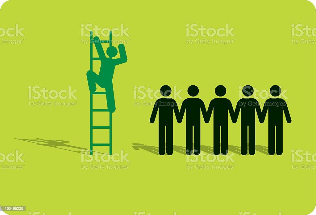 Environmental Ladder royalty-free stock vector art