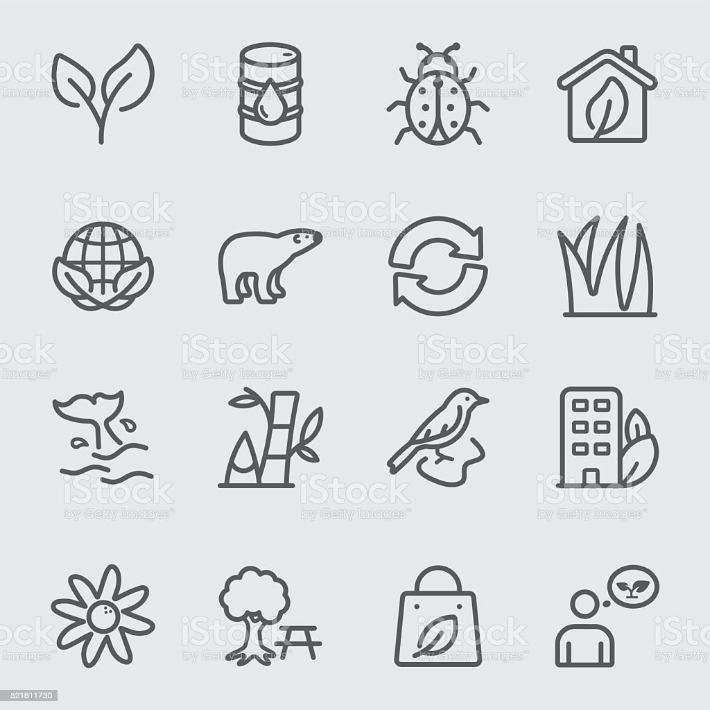 Environmental line icon vector art illustration