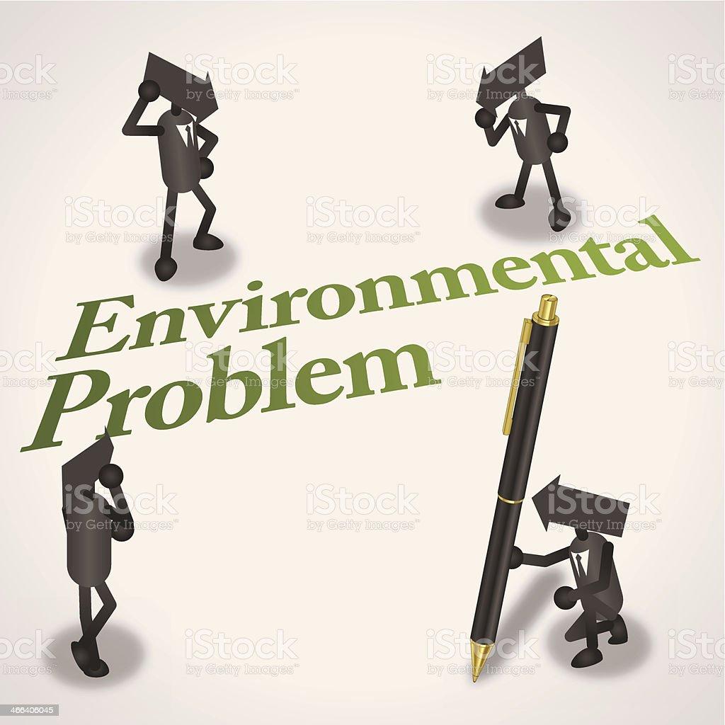 Environmental problem vector art illustration