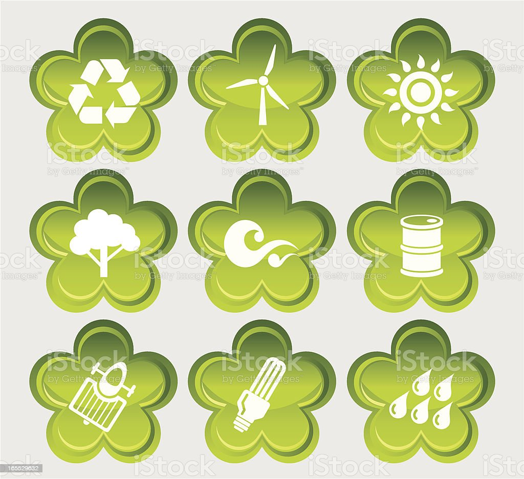 Environmental Protection Icon Set royalty-free stock vector art