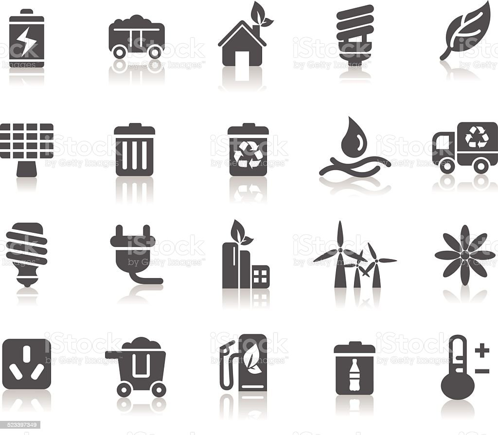 Environmental Protection Icons vector art illustration