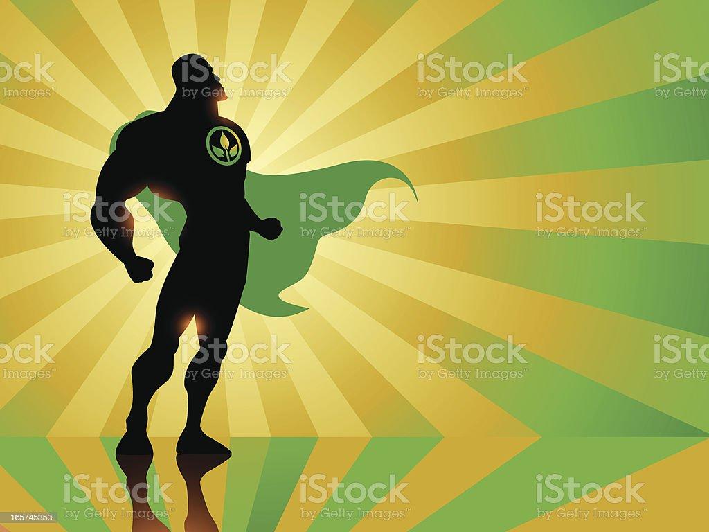 Environmental Superhero royalty-free stock vector art