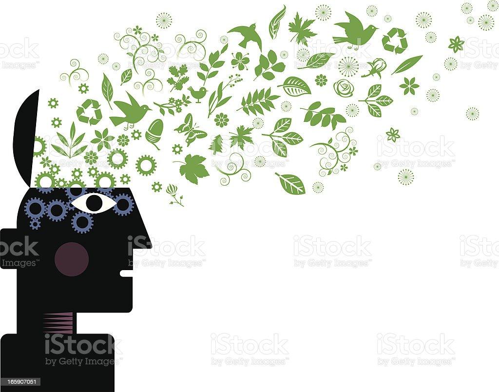 Environmental thoughts royalty-free stock vector art