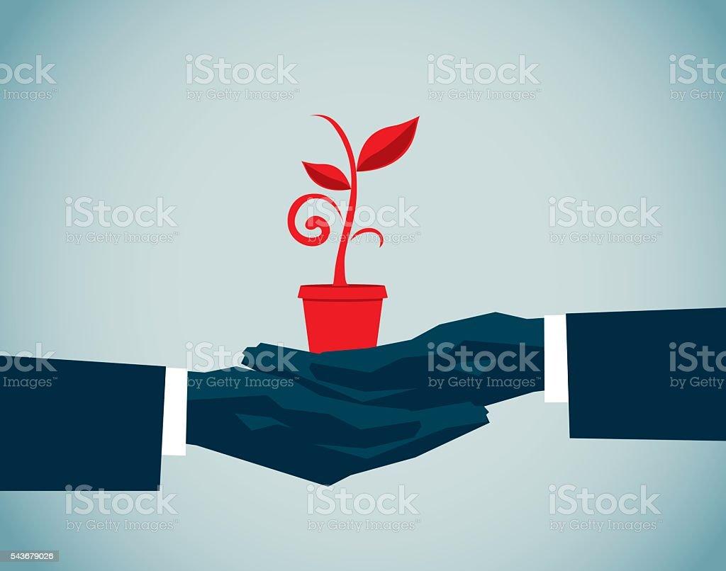 Environmentalist vector art illustration