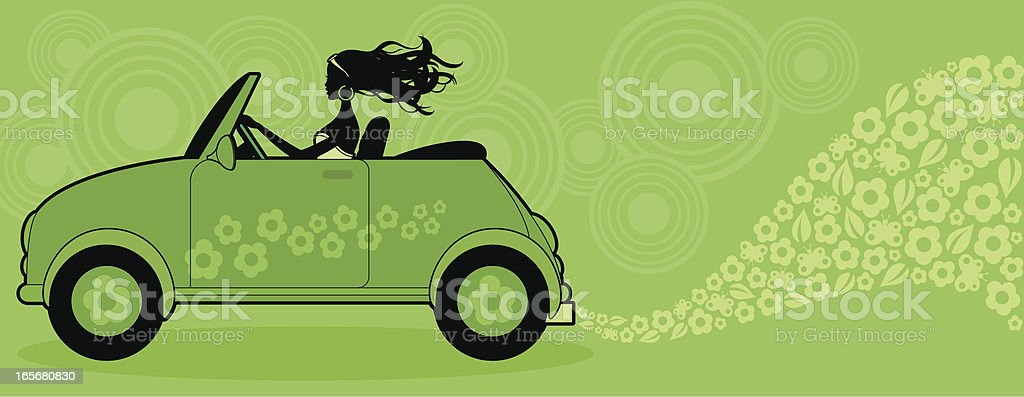 Environmentally Friendly Car royalty-free stock vector art