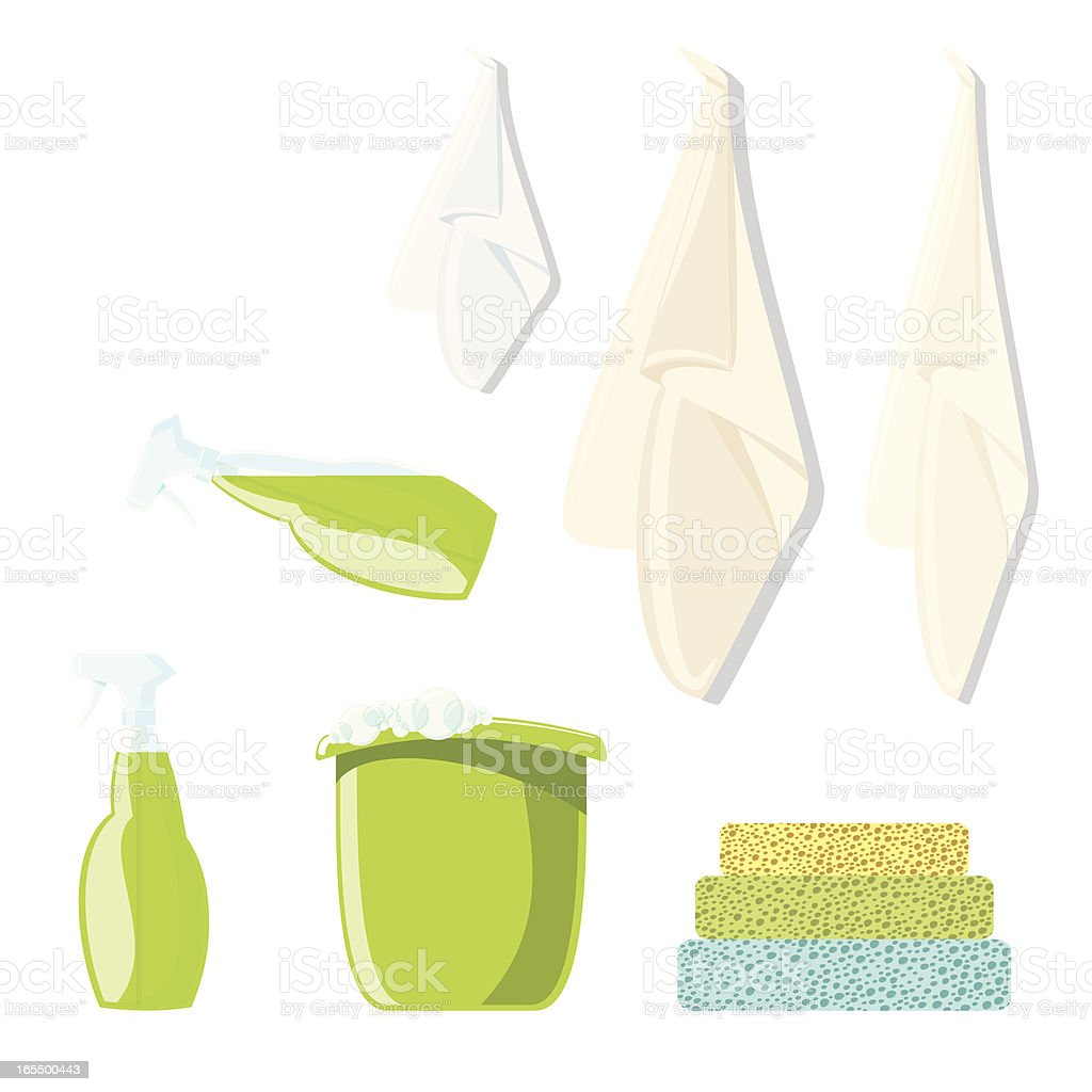 Environmentally Friendly Cleaning Products royalty-free stock vector art