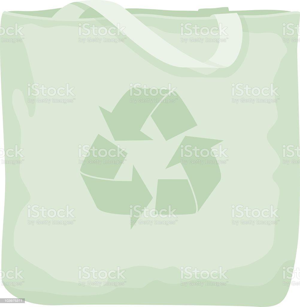 Environmentally Friendly Shopping Bag royalty-free stock vector art