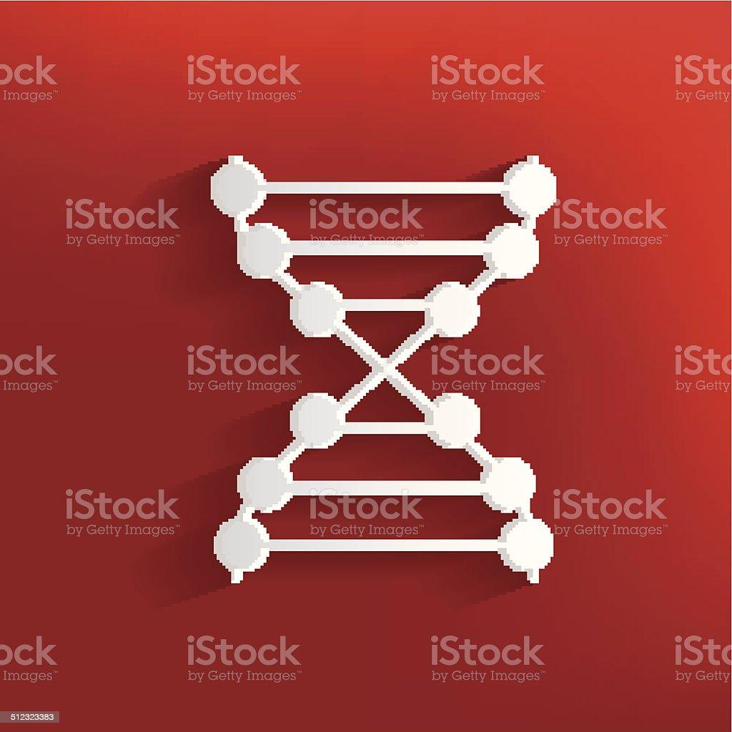 Enzyme design on red background,clean vector vector art illustration