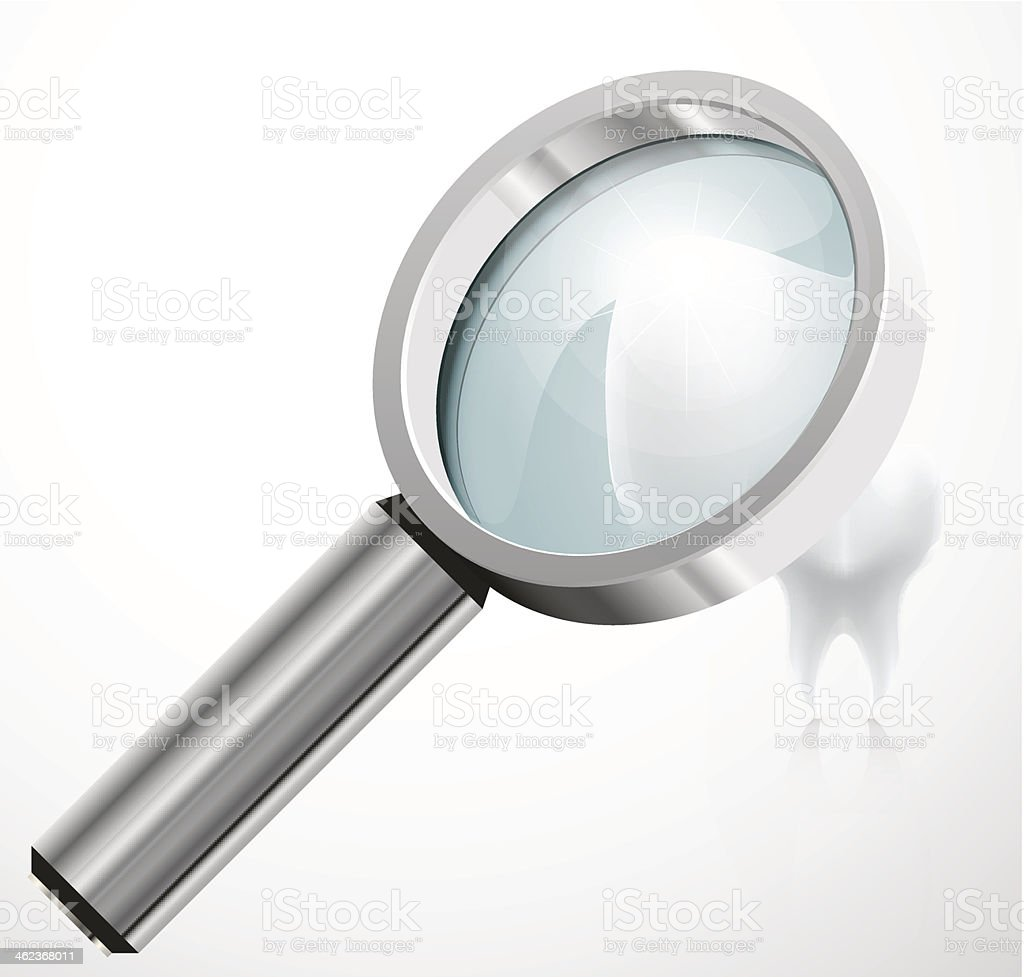 episodes, under a magnifying glass vector art illustration
