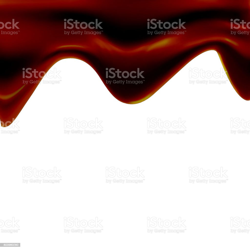 eps10. Black chocolate is blurred along the edge. Floats down vector art illustration