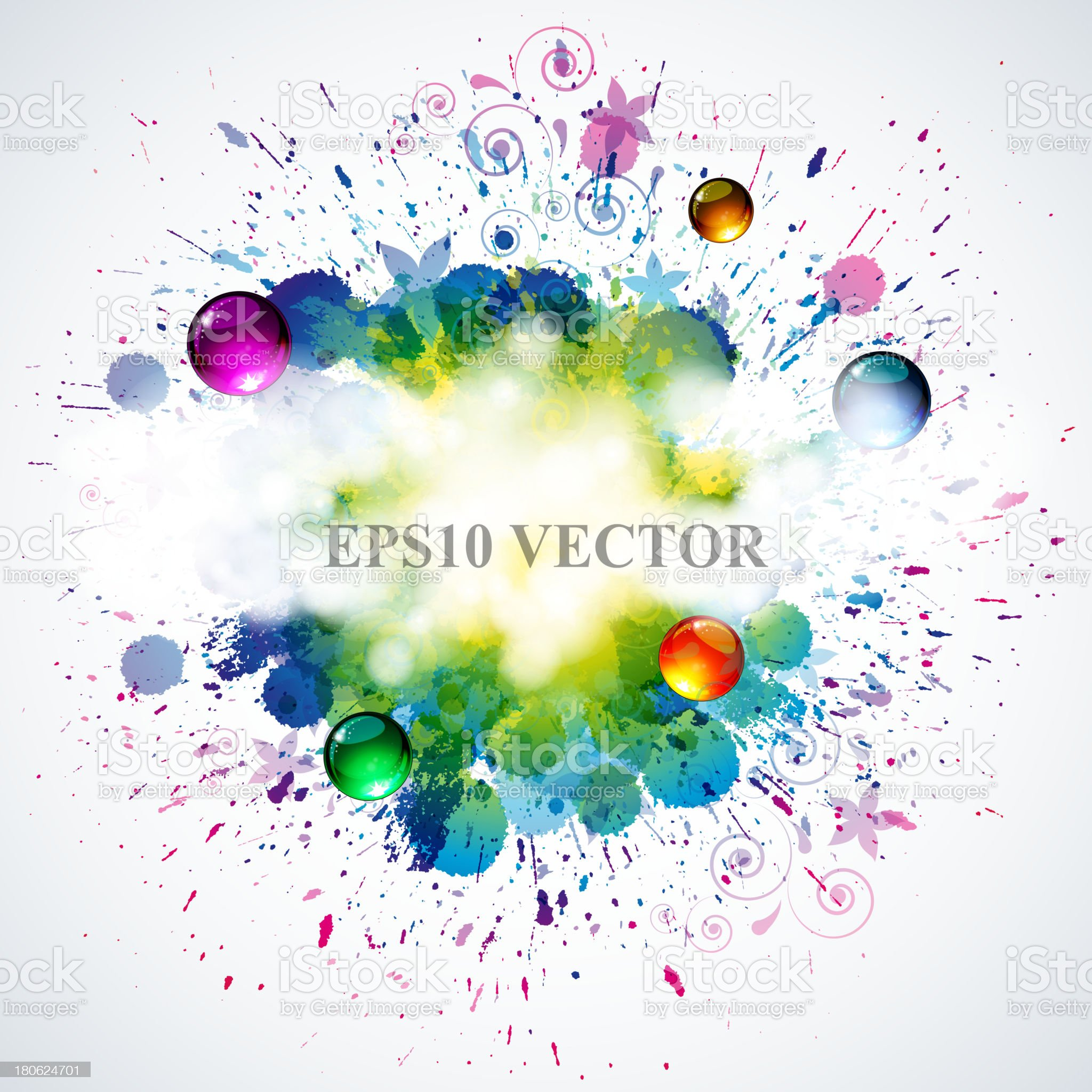 eps10 vector splash background royalty-free stock vector art