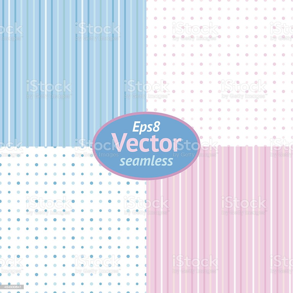 Eps8 Vector Seamless Light Blue and Pink Background vector art illustration