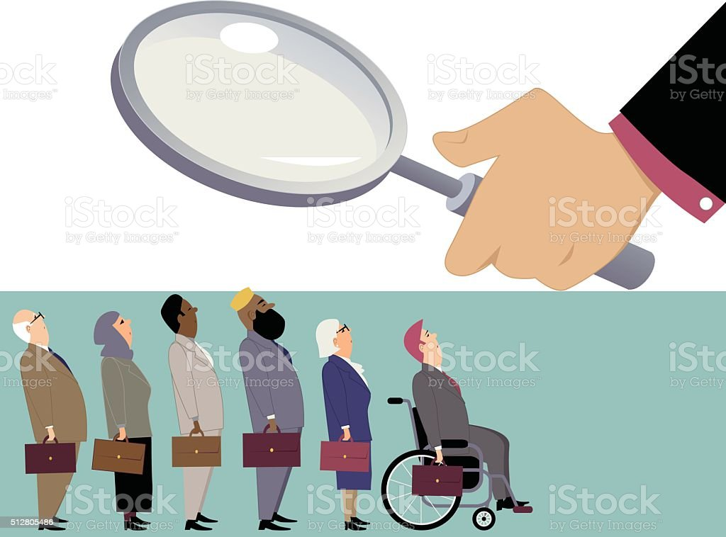 Equal opportunity employment vector art illustration