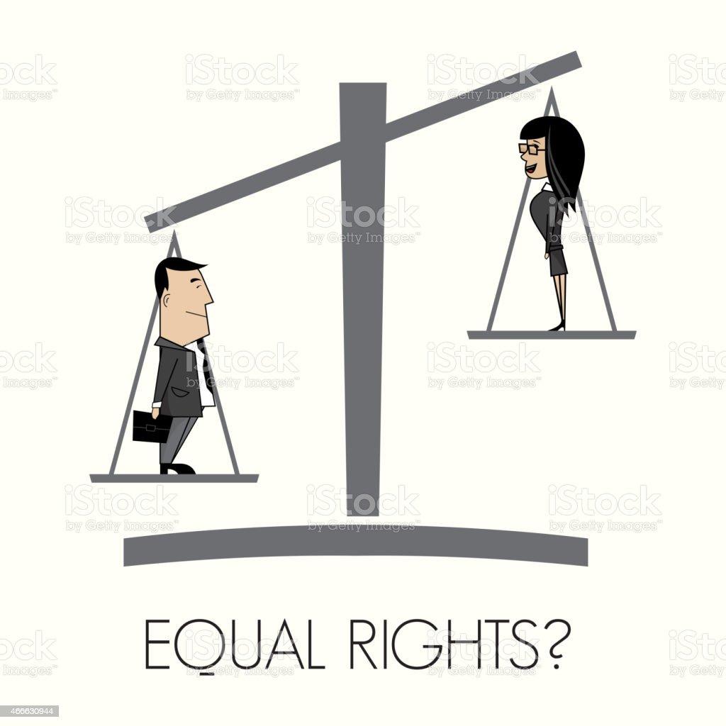 Equal rights vector art illustration