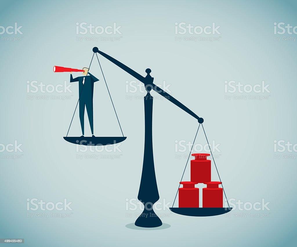 Equal-arm Balance vector art illustration