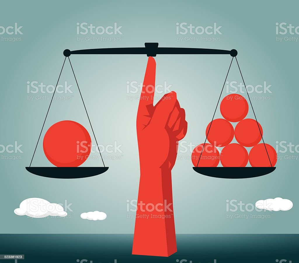 Equality, Imbalance, Contrasts, Individuality vector art illustration