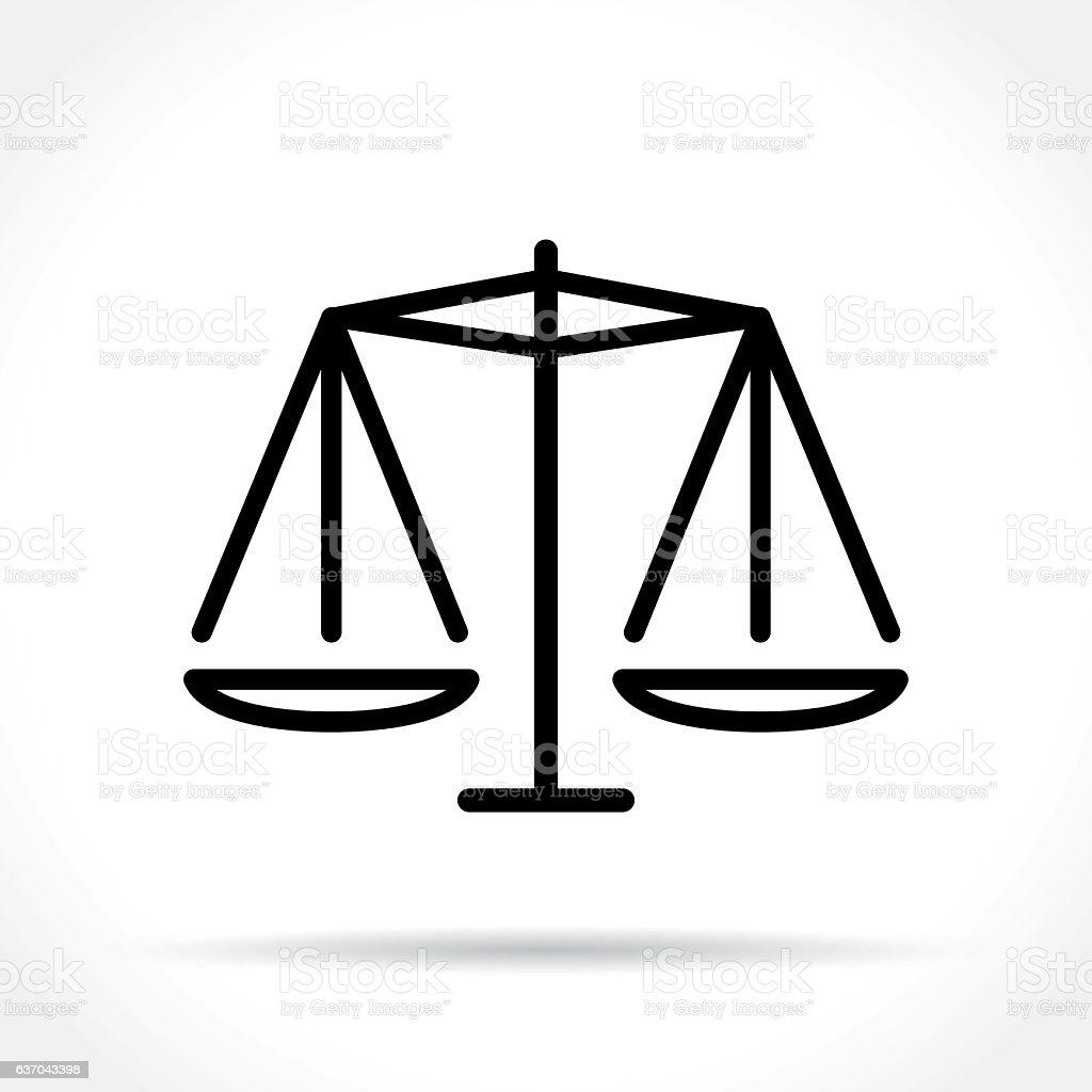equality thin line icon vector art illustration