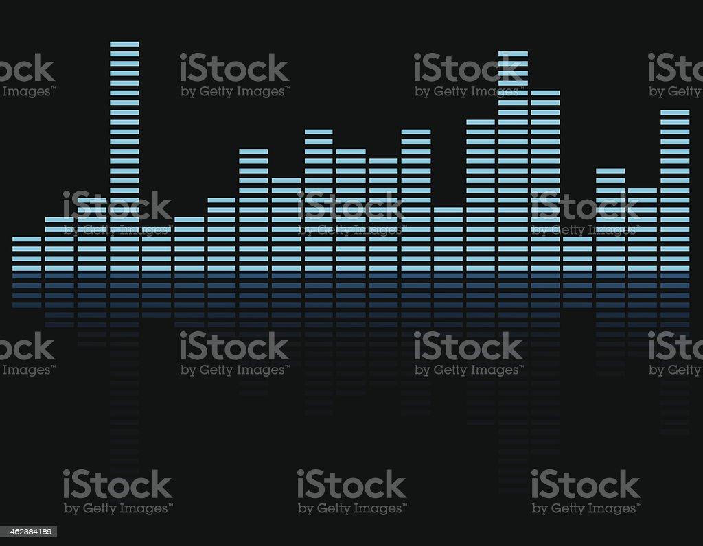 Equalizer background. vector art illustration