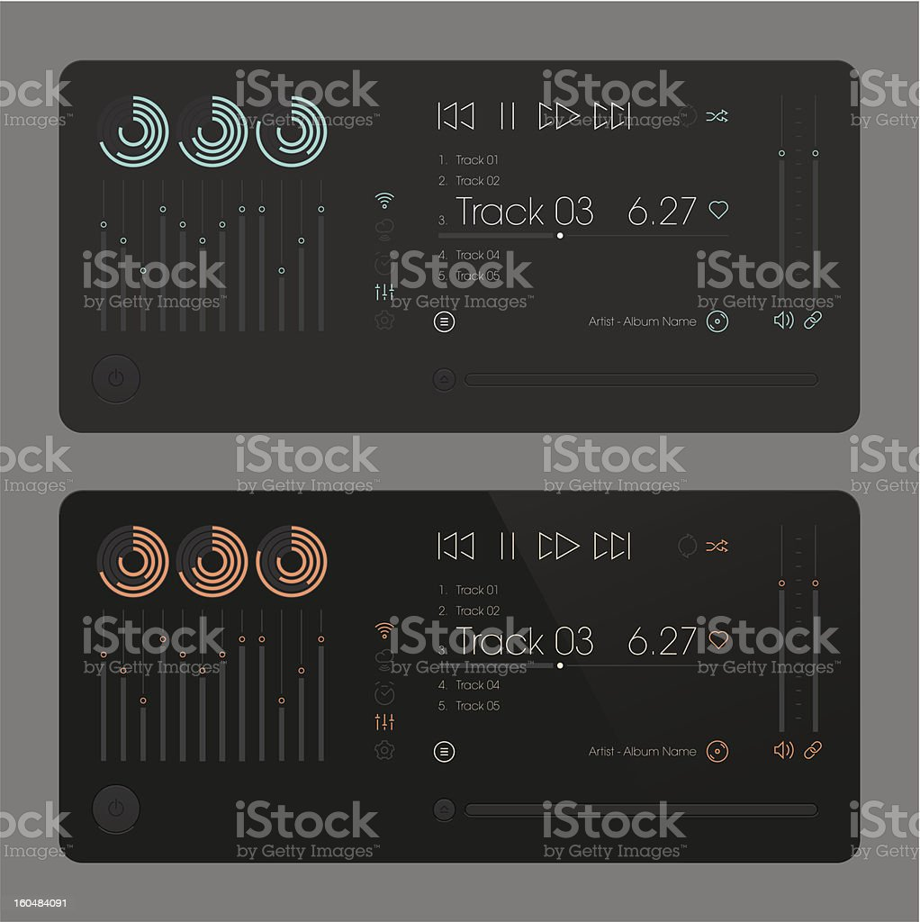 Equalizer CD Player. Modern user Interface. royalty-free stock vector art