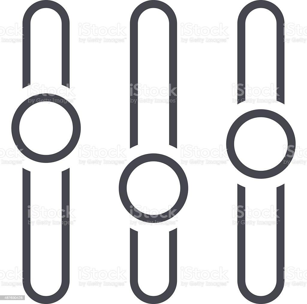 Equalizer icon, adjustment vector illustration, level symbol, flat design style vector art illustration