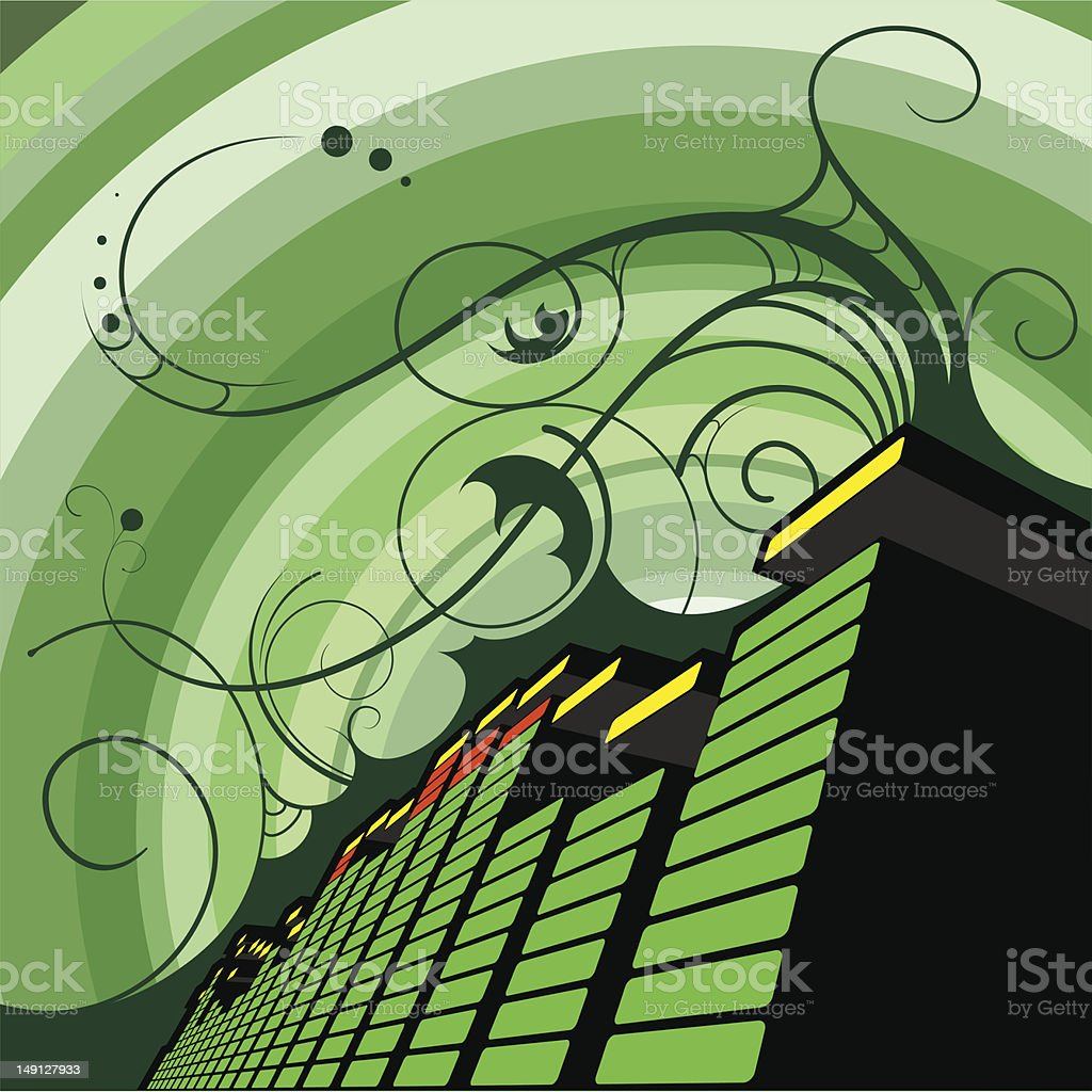 3D equalizer royalty-free stock vector art