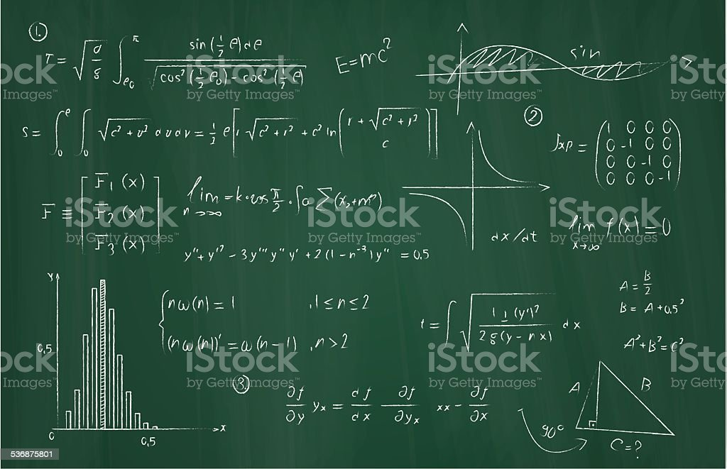 Equations vector art illustration