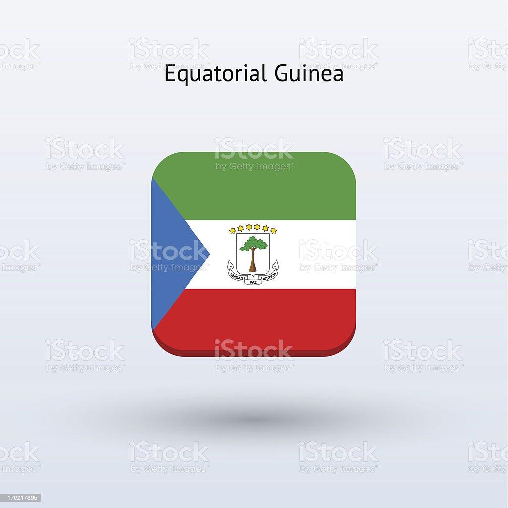 Equatorial Guinea Flag Icon royalty-free stock vector art