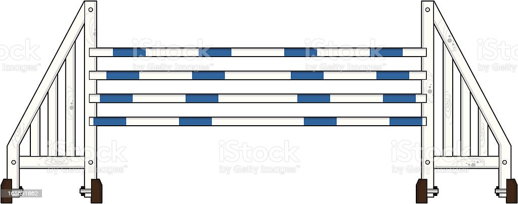Equestrian Show Jumping Fence royalty-free stock vector art