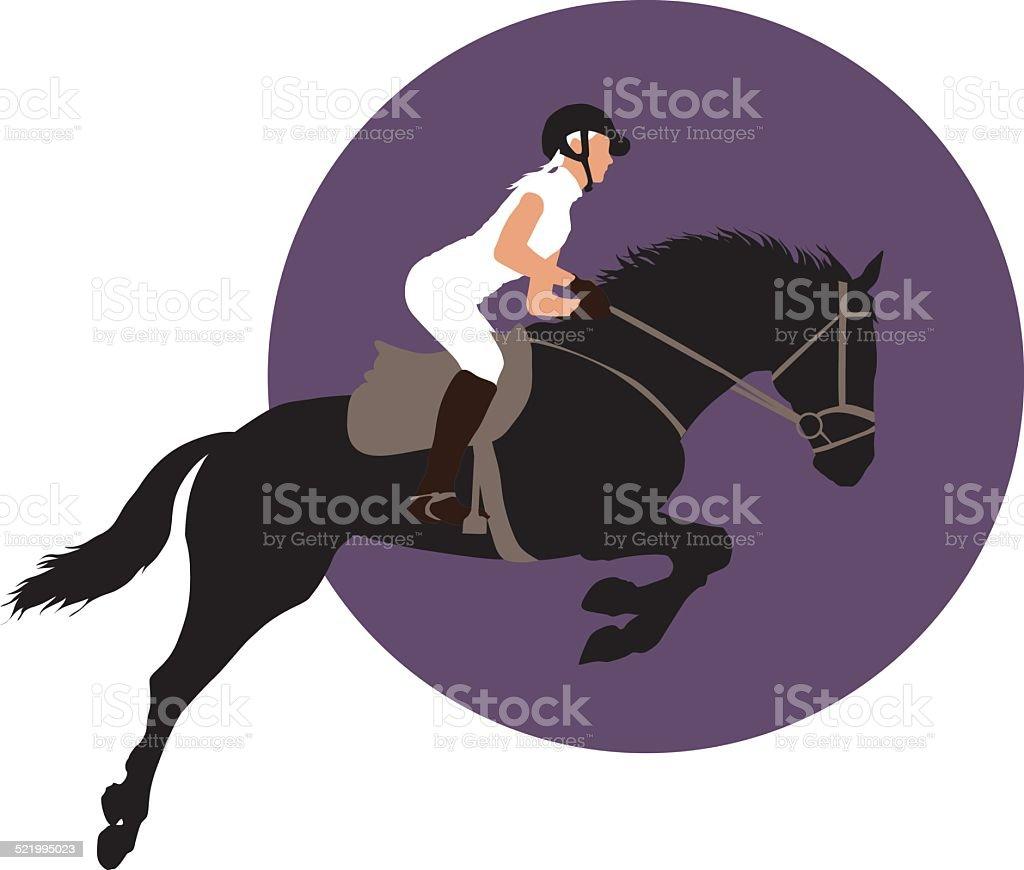 Equestrian sports design vector art illustration