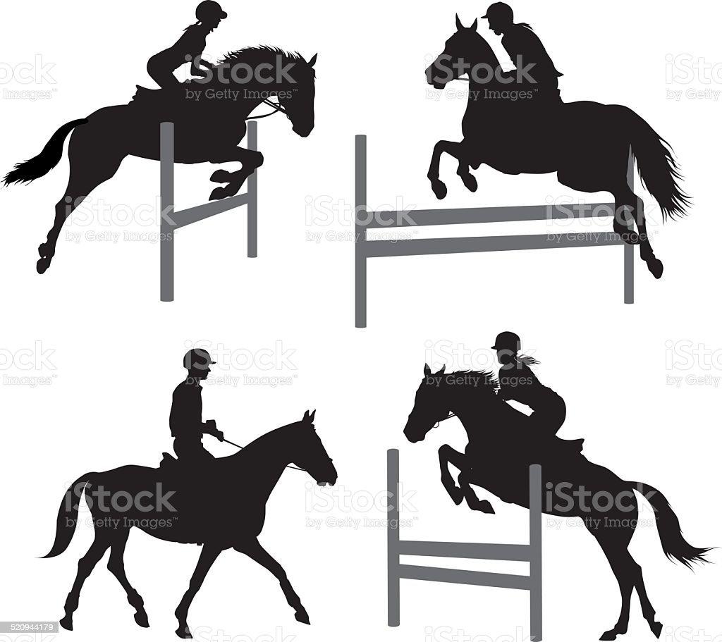 Equestrian sports set 2 vector art illustration