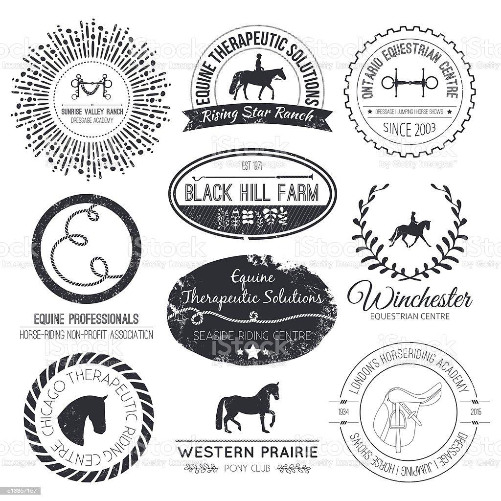 Equine Logo vector art illustration